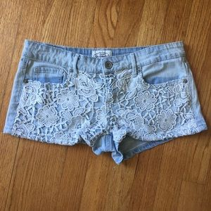 Aeropostal lace Jeans Shorts size 5/6 summer wear